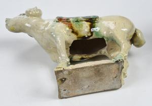 Chinese Sancai Glazed Standing Horse and Ram