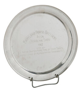 Sterling Horse Trophy Tray