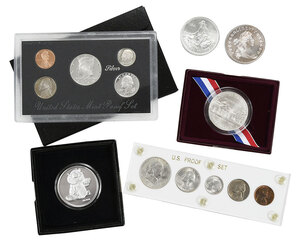 Group of Silver Coins and Rounds