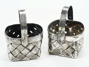 Two Cartier Sterling Baskets