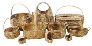 Ten Oak Split Cherokee Baskets