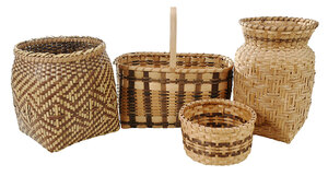 Four Cherokee Baskets