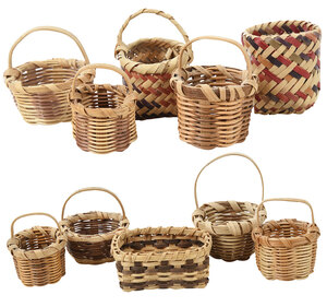 Ten Miniature Cherokee Baskets