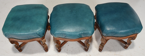 Suite of Three Louis XIV Style Footstools