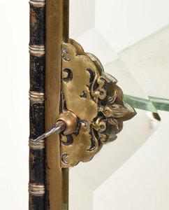 Gilt Bronze and Glass Paneled Tabletop Vitrine