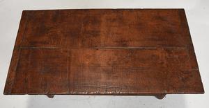 Early Paneled Oak Hutch Table