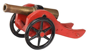 Small Brass Signal Cannon