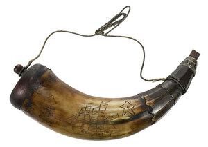 Large Engraved Powder Horn