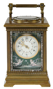 Etienne Maxant Fine Enameled Carriage Clock
