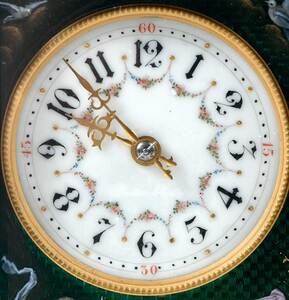Etienne Maxant Fine Enameled Carriage Clock