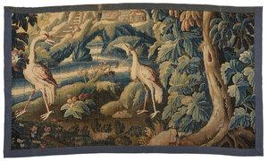 Verdure Tapestry Panel Fragment
