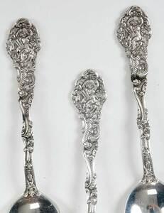 Six Gorham Versailles Sterling Spoons