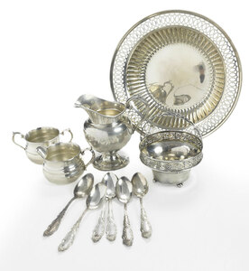 Eleven Sterling Table Items