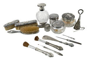 Sixteen Silver Dresser Items