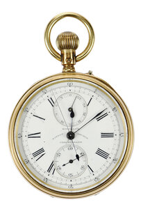 18kt. Chronograph Pocket Watch