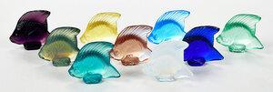 Nine Lalique Glass Fish