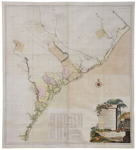 De Brahm - Map of South Carolina, 1757