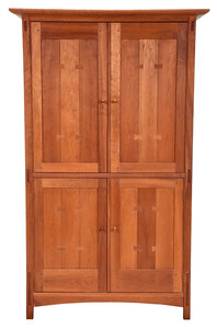 Arts and Crafts Style Stickley Cherry Cabinet
