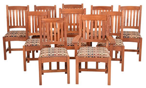 Set of Ten Contemporary Stickley Dining Chairs