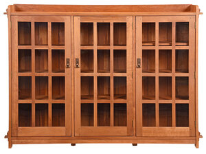 Arts and Crafts Style Stickley Triple Bookcase