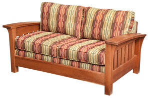 Stickley Arts and Crafts Style Cherry Loveseat