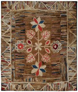 American Folk Art Hooked Rug