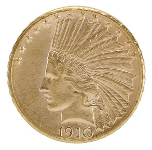 1910-D Indian Head $10 Gold Coin
