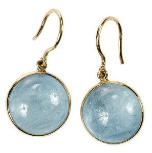 18kt. Aquamarine Earrings