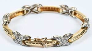 14kt. Diamond Bracelet