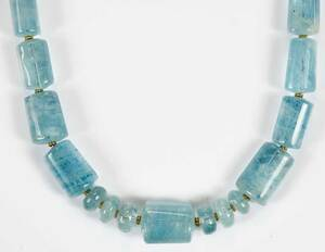 18kt. Aquamarine Necklace