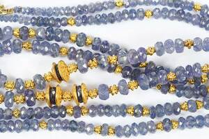 Two 18kt. Tanzanite Necklaces