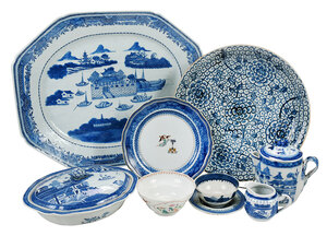 Large Group of Chinese Export and British Ceramics