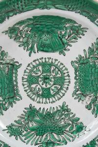 Set of 18 Chinese Export Green Fitzhugh Plates