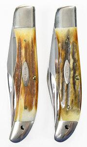 Pair Case Ten Dot Hunter Knives