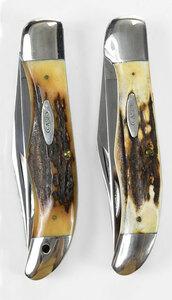 Two Case Folding Hunter Knives