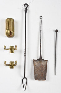 Group of Assorted Brass and Iron Items