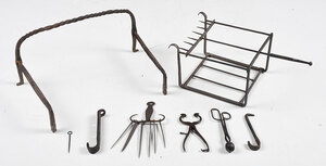Group of Cast Iron Fireplace Tools