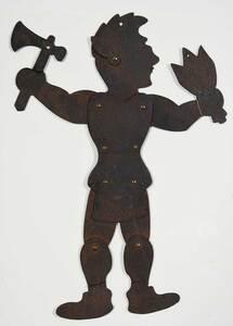A Folk Art Sheet Iron Native American Figure