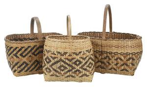 Three Cherokee River Cane Baskets