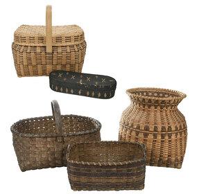 Five Assorted Baskets, Cherokee