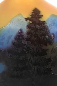 Galle Cameo Landscape Art Glass Bud Vase