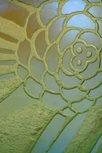 Steuben Blue Aurene Acid Cut Back Art Glass Vase