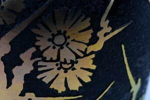 Steuben Gold Aurene Acid Cut Back Art Glass Vase