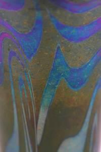Durand Green King Tut Art Glass Vase