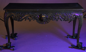 Rare Irish George II Carved Mahogany Side Table