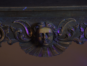 Rare Irish George II Carved Mahogany Side Table