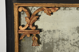 Very Rare Pair China Trade Painted Mirrors