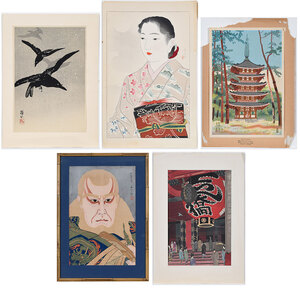 Five Contemporary Japanese Woodblock Prints