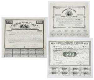 Three Confederate States of America Bonds