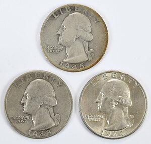 Two Sets of Silver Washington Quarters